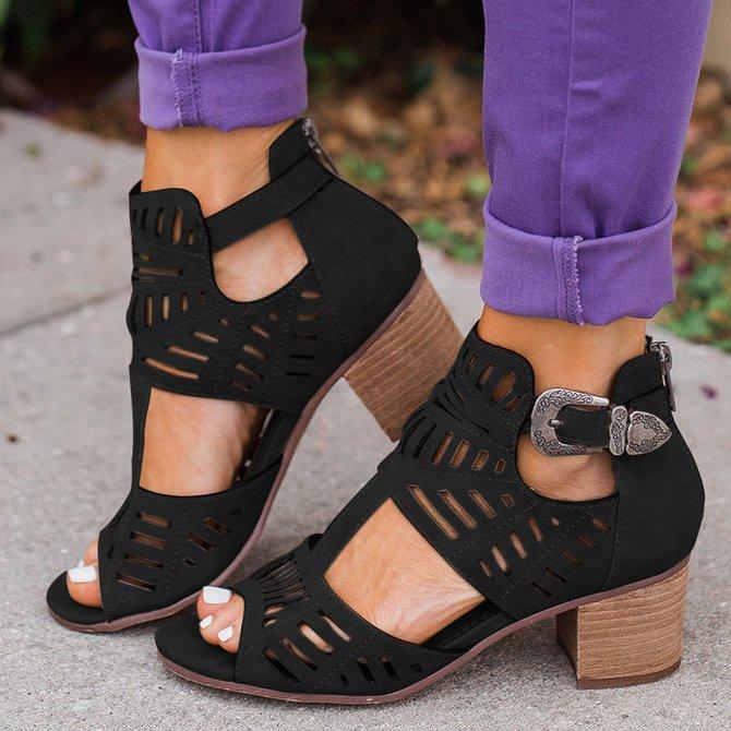 Zapatos de tacon grueso tendencia verano 2019 (16)   Como